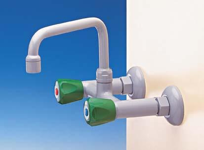 MIXER TAPS WALL MOUNTED 12O ø 50 H SWIVEL SWANNECK, COMPRESSION WATER 315 61 WITH AERATOR H=31O mm 6161 WITH FIXED NOZZLE H=33O mm 6162 WITH REMOVABLE NOZZLE H=335