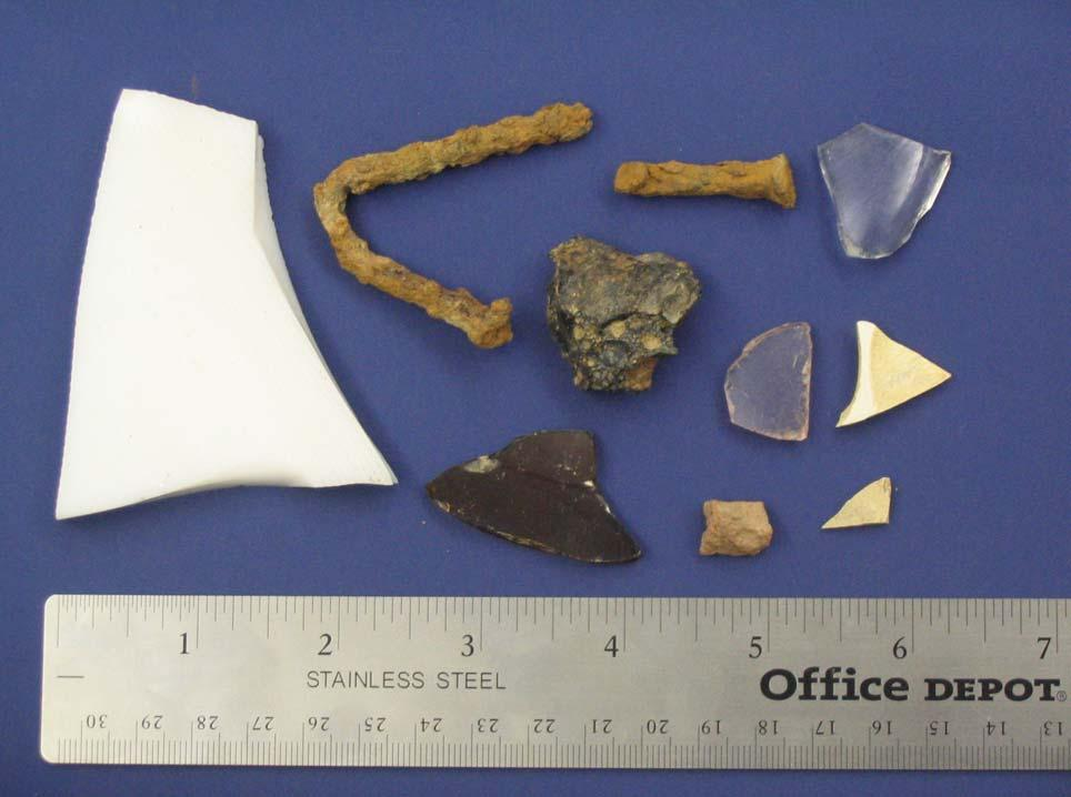 I. Artifact Photograph 1 2 3 4 9 8 5 7 6 10 Photograph of Sample Artifacts; see table below for STP and description, David S.