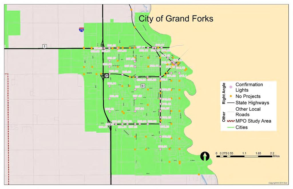 LOCAL ROAD SAFETY PROGRAM JUNE 2014 CHAPTER 4: GRAND FORKS INFRASTRUCTURE SAFETY PROJECTS FIGURE 4-11 City of Grand Forks