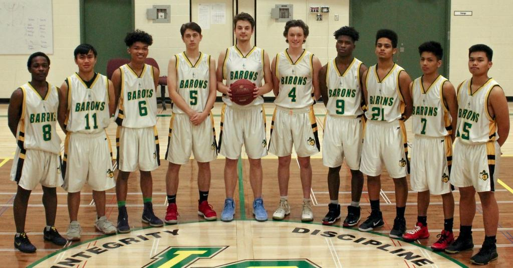 GREEN & GOLD VARSITY MEN 2018 School Name: Louis St. Laurent Nickname: Barons City, Province: Edmonton, Alberta Coaches: J. Saban, C. Saban, S. Muskego, F.