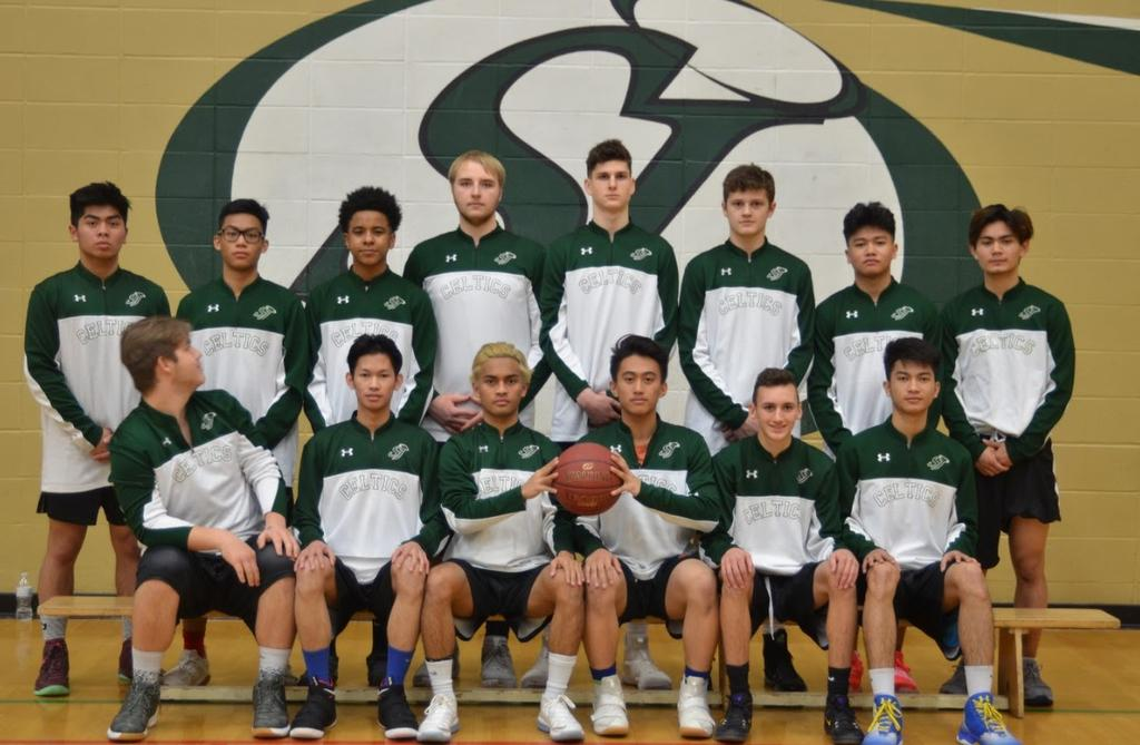 GREEN & GOLD VARSITY MEN 2018 School Name: St. Joseph Catholic School Nickname: Celtics City, Province: Grande Prairie, Alberta Coaches: Team Colors: R.