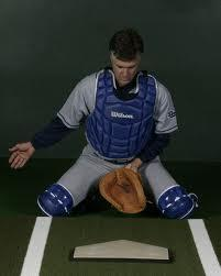 BLOCKING THE BASEBALL Mitts first take your mitt to your cup and keep it perpendicular to the ground (no ramp) Knees follow hips are low and knees are wide in relationship to location of ball in dirt