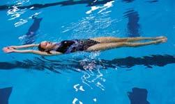 If you are going to start swimming the elementary backstroke, glide with your arms at your sides. Starting on the side from the pool wall To push off from the pool wall on your side: 1.