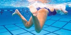 Allow your knees to drop toward the bottom of the pool (Fig. 6-17A).