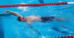 Back Crawl (Backstroke) Open Turn This open turn is used for recreational swimming. When swimming back crawl, you must gauge your distance as you approach the wall.