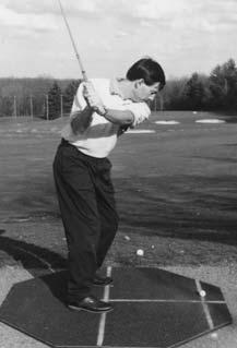 move as one unit. This will keep your arms from taking the club away from your body to the outside or have your arms swing across your chest and pull the club too far inside.