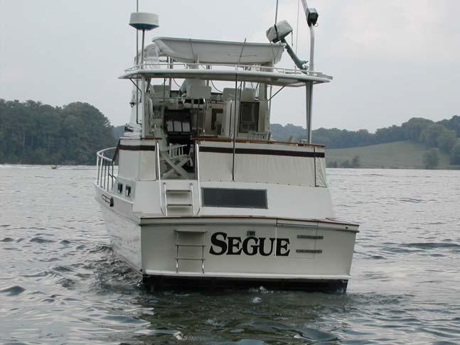 "We finally bought our boat, Segue, in 2003. (""Segue"" for our transition from work to retirement and from land to water.) The boat is a 43 foot 1984 Californian cockpit motor yacht."