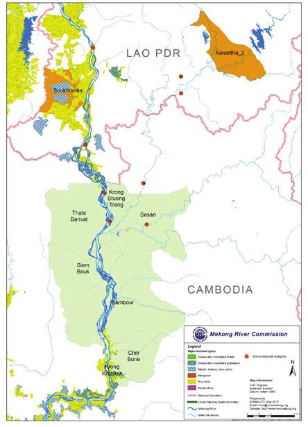 Figure 5: Wetlands and Environmental Hotspots in the Mekong
