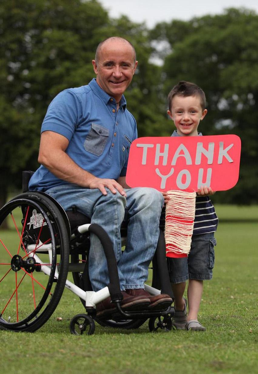 A THANK YOU TO YOU ALL Every team will be presented with a plaque recognising their participation in the Wings for Life Formula One Challenge and thanking them for their support.