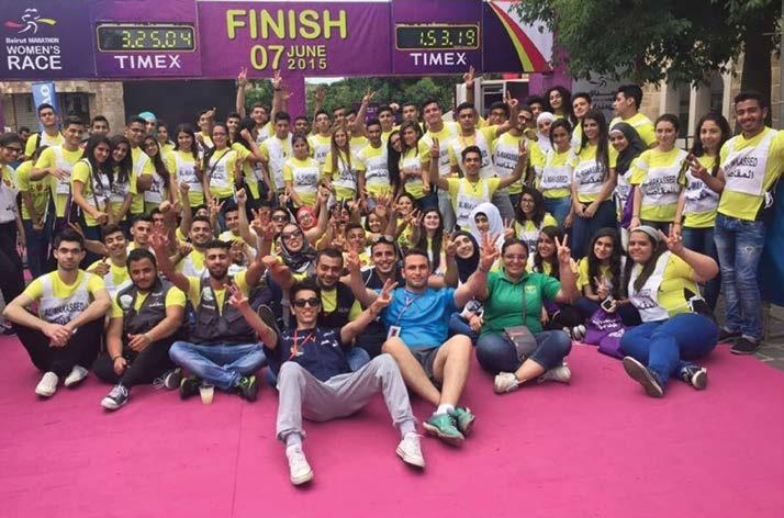 MEDIA & RUNNER GUIDE 2016 - PAGE 23 Thank You Volunteers The BLOM BANK BEIRUT MARATHON requires around 4,000 volunteers for the Preparation Phase & Race Day; our volunteers come from all walks of