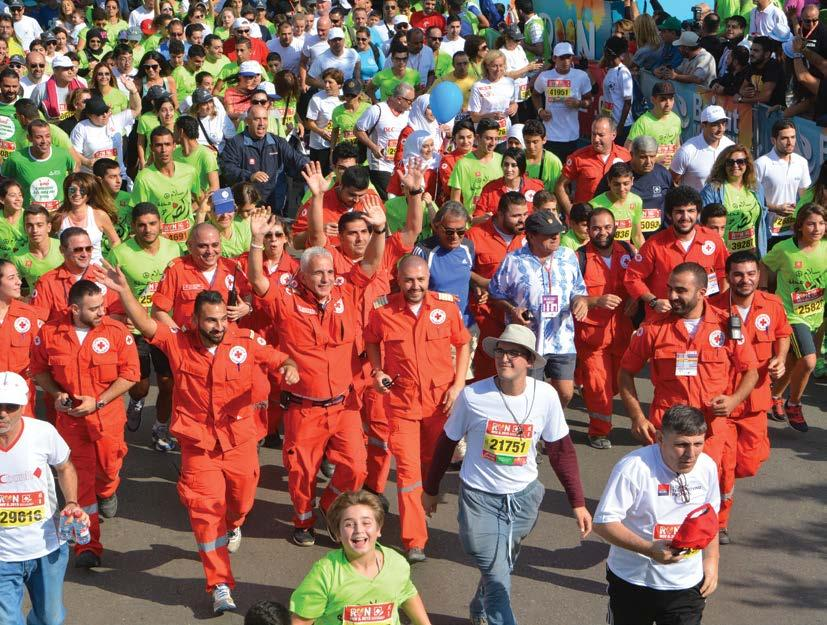 MEDIA & RUNNER GUIDE 2016 - PAGE 59 Medical Services Beirut Marathon Association has four medical entities assisting with the races: Medical Tents 7 medical tents will be located along the course