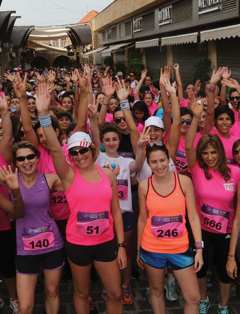 MEDIA & RUNNER GUIDE 2016 - PAGE 75 women's race On June 7th 2015, the historic Mediterranean port city of Byblos (Jbeil) hosted the Beirut Marathon Association s 3rd edition of its Women s Race.