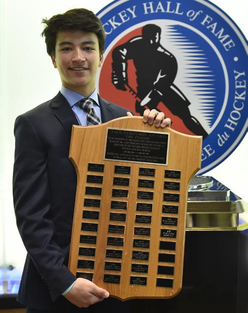 His 4 wins not only led the OHL but established a new Attack single season record surpassing Jordan Binnington s previous mark of 3 set during his award winning -3 season.