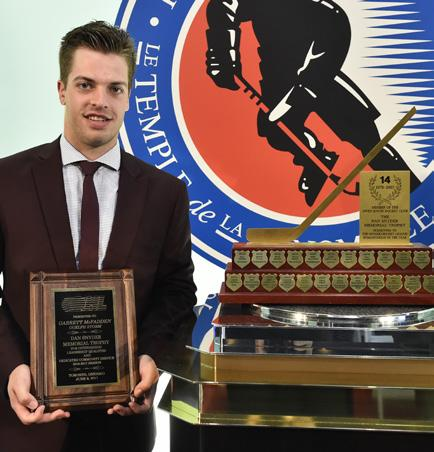 Dan Snyder Memorial Trophy (Humanitarian of the Year) GARRETT MCFADDEN GUELPH STORM In September, 6, Storm captain Garrett McFadden introduced McFadden s Movement, a mental health campaign that