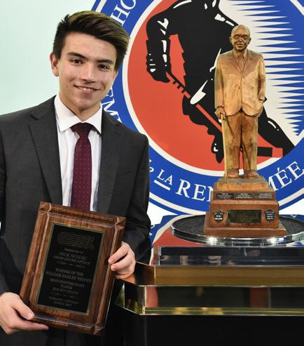 William Hanley Trophy (Most Sportsmanlike Player) NICK SUZUKI OWEN SOUND ATTACK Nick Suzuki finished fifth in league scoring with 96 points including 45 goals and 5 assists in 65 games played with a