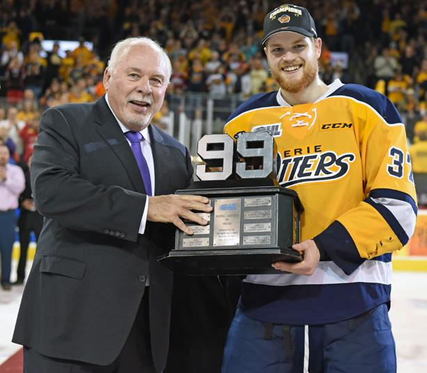 native scored a number of big goals throughout Erie s playoff run including a second round Game 7 overtime winner against the London Knights.