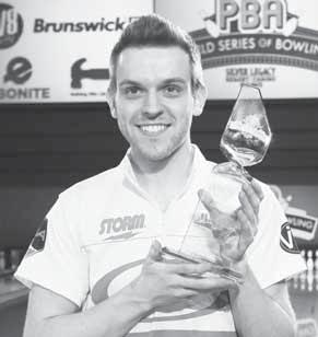 5, 2017) Thanks in part to a commanding performance in the end-of-season GEICO PBA World Series of Bowling in Reno, which included his first major title in the PBA World Championship, 24-year-old E.J.